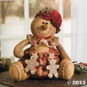 Plush Sitting Gingerbread Doll