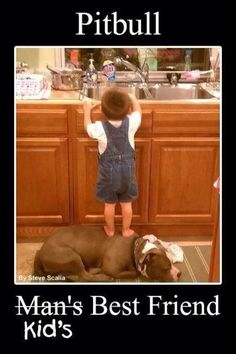 I have a picture just like this with my dog and son -He is so loving and patient with kids. Nanny dog for sure.