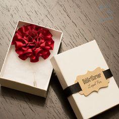Ramillete de decoración de DAWANDA de broche flor flor impresiones hechas a mano