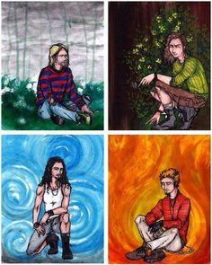 Kurt Cobain, Eddie Vedder, Chris Cornell, and Layne Staley