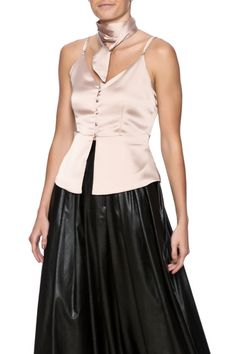 a503700f00 Bio Satin Button Down Tank from Naples by Bio New York — $128 Sleeveless  Outfit,