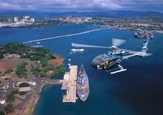 Helicopter Tour with Blue Hawaiian Helicopters: Flying over Pearl Harbor