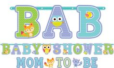 Baby Shower Letter Banners 2ct - Woodland - Party City