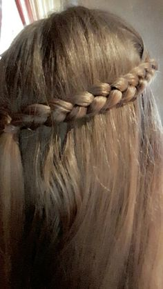 2 Hollöndische Zöpfe nach hinten geflochten und mit einem Haargummi befestigt.
