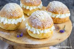 Bread Dough Recipe, Czech Recipes, Great Desserts, Churros, Sweet Recipes, Sweet Tooth, Cheesecake, Muffin, Food And Drink