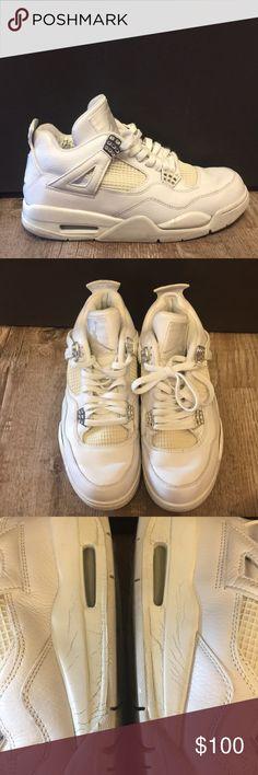 3b3b37613dd435 Nike Air Jordan 4 IV Retro White Chrome Mens 8.5 These were a release in  2005