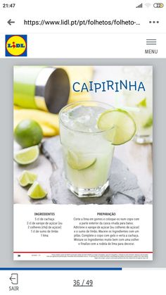 Cocktail Drinks, Cocktails, Cantaloupe, Fruit, Food, Syrup, Caipirinha, Craft Cocktails, Essen