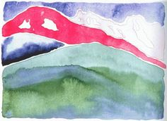 Pink and Green Mountains No. 1 - Georgia O'Keeffe ca.1917 American 1887-1986 Watercolours