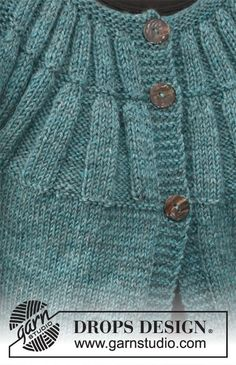 """Knitted DROPS jacket with short sleeves and round yoke in """"Karisma"""". Size: S - XXXL. Drops Design, Knitting Patterns Free, Free Knitting, Skirt Outfits, Preppy, Knit Crochet, Men Sweater, Sweaters, Cardigans"""