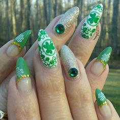 st patric's day nail art design 3/15/2015