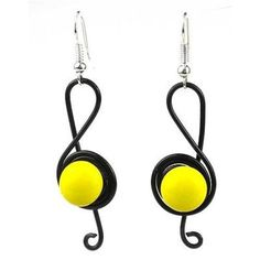 Chilean artisans create these 2-inch earrings in a G-clef design that feature a…