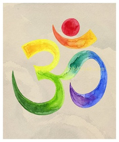 Om Watercolor Yoga Reiki Bohemian Chic 11x14 giclee by bohoLUSH, $33.00