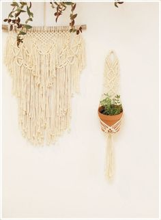 #Macrame #Plant Hanger by  #fallandFOUND on Etsy #boho