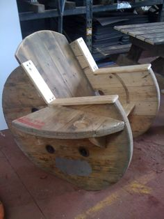 Handmade with love wooden outdoor chair from Yooz