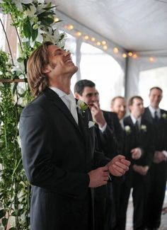 Jared #Padalecki at his wedding.