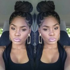 Perfect box braids...my official inspiration for box braids! I absolutely love her work (make up)!