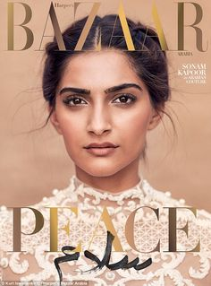 The December cover of Harper's Bazaar Arabia is designed to promote a message of world peace, following terror attacks in Paris and London.
