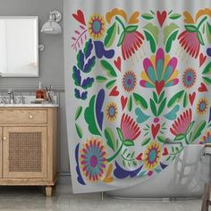 Mexican shower curtain Bathroom art Bohemian Art Bath | Etsy Bathroom Art, Bathroom Shower Curtains, Boho Bathroom, Decor Interior Design, Interior Decorating, Cactus Shower Curtain, Geometric Deer, Bohemian Art, Pretty Designs