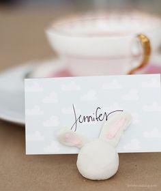 bunny place card holders — Lindsay Stephenson