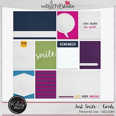 Just Smile Journal Cards