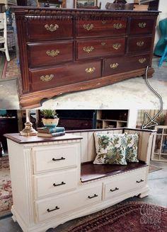 Diy Furniture Renovation, Diy Furniture Easy, Refurbished Furniture, Repurposed Furniture, Home Decor Furniture, Furniture Makeover, Furniture Decor, Furniture Design, Painting Furniture