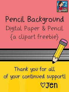 Free Pencil Clipart and Background