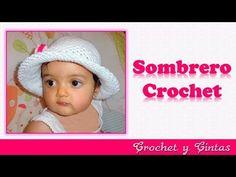 Sombrero crochet verano para niñas con flor 3D Parte 1 - YouTube