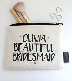 Personalised Bridesmaid Make Up Bag Glitter Clutch Bag, Will You Be My Bridesmaid Gifts, Personalized Bridesmaid Gifts, Business Women, Leather Bag, How To Make, Bags, Handbags, Taschen