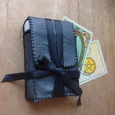 tarot bag upcycled leather tarot case tarot pouch by gorimbaud