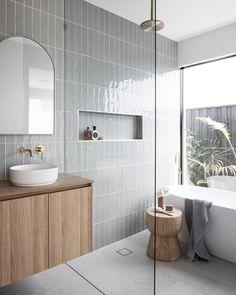 Bathroom Renos, Laundry In Bathroom, Small Bathroom, Bathroom Large Tiles, Bathroom Feature Wall Tile, Minimal Bathroom, Coastal Bathrooms, Upstairs Bathrooms, Downstairs Bathroom