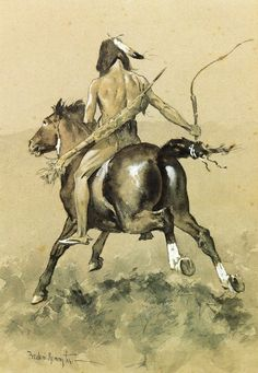 Frederic Remington Going to the Buffalo Hunt hand painted oil painting reproduction on canvas by artist Native American Paintings, Native American Artists, Native American Indians, Frederic Remington, West Art, Cowboy Art, American Indian Art, Le Far West, Equine Art
