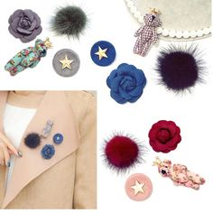 Handmade Accessory Women Pin Bag Dress Hat Jacket Gift SMALL GLASS DOME BROOCH