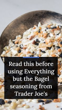 You know the Everything but the Bagel seasoning at Trader Joe's? The one that can make any food taste a little more like the classic NYC bagel? As tasty as the seasoning can be, you might want to proceed with caution next time you're thinking about using it. According to the Daily Dot, two TikTok users found maggots in their Everything but the Bagel shakers last month. Yep, maggots. #traderjoes #food #foodnews #lifestyle New Recipes, Snack Recipes, Snacks, Edgy Veg, Daily Dot, Everything Bagel, Trader Joe's, How To Stay Healthy, Health Tips