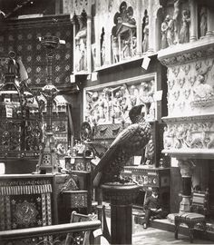 1862 Medieval Court with 4 Cabinets by Burges (including Yatman cabinet and Sun cabinet). See Plate 81, Nineteenth Century Design from Pugin to Mackintosh by Charlotte Gere and Michael Whiteway, (London: Weidenfeld and Nicolson, 1993).