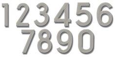 Fuoriserie Ecco Nickel House Numbers