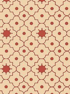 Schumacher Wallpaper Taj Trellis-Pomegranate $63.50 per roll #interiors #decor #holidaydining