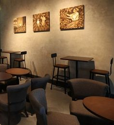 Artwork helps tell the coffee story in Starbucks stores in the Philippines and Thailand.