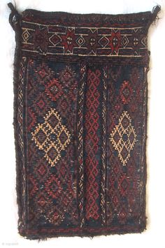 "A rare Timuri spindle bag, West Afghanistan 19th century. 16.6"" x 9.9"" , 42 x 25 cm"