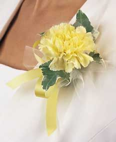 Yellow corsage