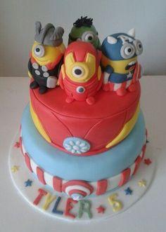 minion avengers cake Cakes Pinterest Minion avengers