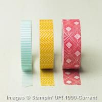 Beach House Designer Washai Tape three rolls Only $2.97 SU! Retirement Sale Linda Bauwin - CARD-iologist Helping you create cards from the heart.
