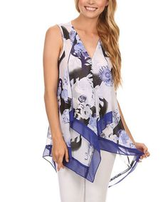Another great find on #zulily! Blue Abstract Hi-Low Tunic - Plus Too #zulilyfinds