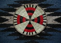 5 Rows QUILLED ROSETTE - MEDALLION - ARAPAHO Reproduction ( Beadwork/Quillwork)