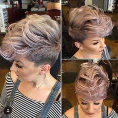 Balayage-Faux-Hawk-Shaved-Hairstyle-for-Short-Hair.jpg (590×588)