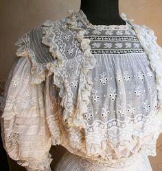 Edwardian ruffles and lace...
