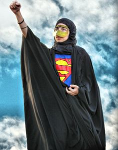 """it's a bird, it's a plane, no, it's Super-Hijabi""  - Up, Up and Away!"