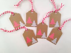 Christmas Tree Gift Tags by OccasionalGoods on Etsy www.etsy.com/shop/OccasionalGoods