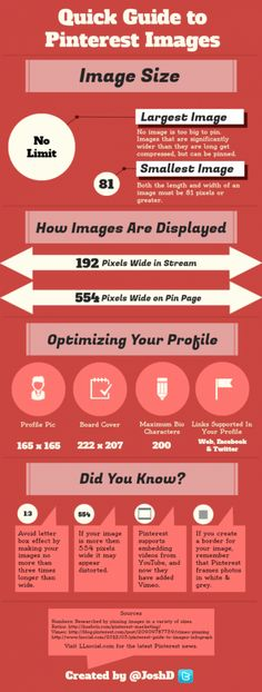 Do you know the image size for your Pinterest profile picture or board cover? Finding the size of the images used on Pinterest can be difficult. Here is a quick guide to help you get started pinning...