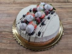 Tvarohová torta s ovocím, Recept Birthday Cake Decorating, Chocolate Ice Cream, Cake Cookies, Dessert Recipes, Food And Drink, Cooking Recipes, Favorite Recipes, Sweet, Birthday Cakes