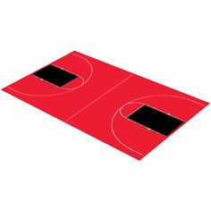 DuraPlay Full Court Basketball Kit, 44'3 inch x 75'6 inch, Red and Black